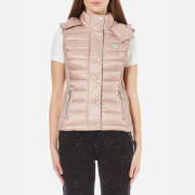 Superdry Women's Luxe Fugee Double Zip Vest - Blush Pink