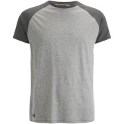 T-Shirt Threadbare Abbot Raglan -Gris Chiné