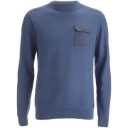 Pull Threadbare pour Homme Karlson -Denim Chiné