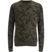 Threadbare Men's Felton Camo Crew Sweatshirt - Black