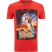 Back to the Future Distressed Poster Heren T-Shirt - Rood