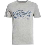Jack & Jones Men's Originals Miller T-Shirt - Light Grey Melange
