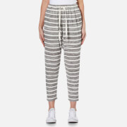 MINKPINK Women's Marle Stripe Dropcrotch Joggers - Black/White