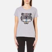KENZO Women's Snake X Tiger Embroidery T-Shirt - Grey