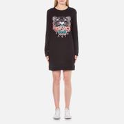 KENZO Women's Embroidered Tiger On Light Cotton Molleton Sweatshirt Dress - Black