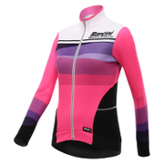 Santini Women's Coral Thermal Long Sleeve Jersey - Pink