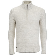 Kensington Eastside Men's Stepan Half Zip Jumper - Light Grey
