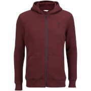 Jack & Jones Men's Core Naaron Zip Through Hoody - Port