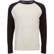 Jack & Jones Men's Originals Kaduna Raglan Jumper - White Melange