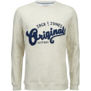 Jack & Jones Men's Originals Quarter Sweatshirt - Treated White