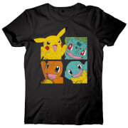 Pokemon Pikachu and Friends T-Shirt - Black