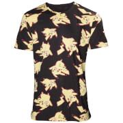 Pokemon All Over Pikachu Print T-Shirt - Black