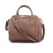 Alexander Wang Women's Rockie Pebbled Leather Stud Detail Bowler Bag - Latte