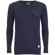 Crosshatch Herren Barrowell Jumper - Navy Blazer