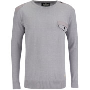 Crosshatch Herren Barrowell Jumper - Mid Grey Marl