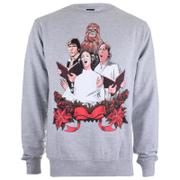 Star Wars Men's  Weihnachtschor Sweatshirt – Grau