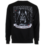 Star Wars Men's Merry Sithmas Crew Sweatshirt - Black
