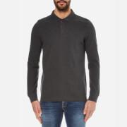 Barbour International Men's International Root Long Sleeve Polo Shirt - Charcoal