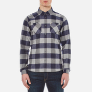 Luke 1977 Men's Hoople Long Sleeve Shirt - Indigo Grey Check
