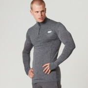 Myprotein Men's Seamless Long Sleeve 1/4 Zip Top - Black