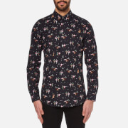 PS by Paul Smith Men's Tailored Long Sleeve Shirt - Black