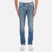 Nudie Jeans Men's Long John Skinny Jeans - Black Blizzard