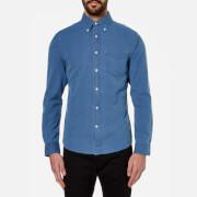 GANT Rugger Men's Indigo Oxford Long Sleeve Shirt - Light Indigo