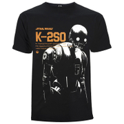 Star Wars Rogue One Men's K - 2SO T-Shirt - Black
