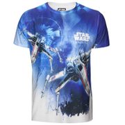 Star Wars: Rogue One Männer X-Wing Sublimation T-Shirt - Weiß