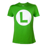Super Mario Luigi L Logo T-Shirt - Green (XL)