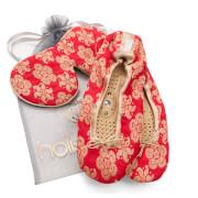 Holistic Silk Eye Mask Slipper Gift Set - Scarlet (Various Sizes)
