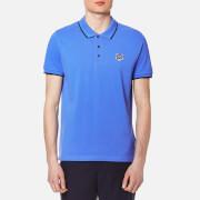 KENZO Men's Cotton Pique Tiger Polo Shirt - Azure Blue