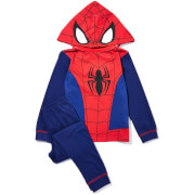 Marvel Boy's Spiderman Novelty Hoody Pyjamas - Blue