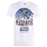Star Wars Rogue One Men's Fight Scene T-Shirt - White