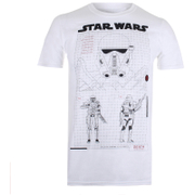 T-Shirt Homme Star Wars Rogue One Death Trooper Schematic - Blanc