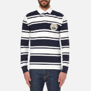 Tommy Hilfiger Men's Niek Striped Rugby Top - Navy Blazer
