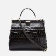 Aspinal of London Women's Large Frame Bag - Black Croc