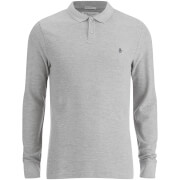 Original Penguin Men's Long Sleeve Polo Shirt - Rain Heather