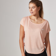 Myprotein Women's Core Scoop Hem T-Shirt – Soft Coral