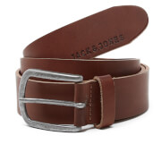Jack & Jones Men's Logo Buckle Belt - Brown