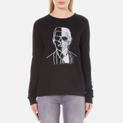 Karl Lagerfeld Women's Karl Photo Sweatshirt - Black
