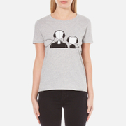 Karl Lagerfeld Women's Karl and Choupette Music T-Shirt - Grey