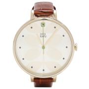 Orla Kiely Women's Ivy Croc Leather Watch - Brown