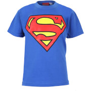 DC Comics Boys' Superman Logo Heren T-Shirt - Koningsblauw