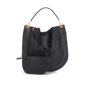 Diane von Furstenberg Women's Moon Calf Hair/Leather Large Hobo Bag - Black