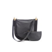 Diane von Furstenberg Women's Moon Leather/Suede Cross Body Bag - Black