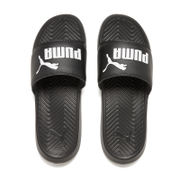 Puma Men's Popcat Slide Sandals - Black/Black/White