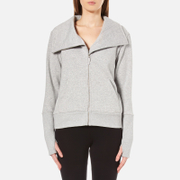 UGG Women's Pauline Double Knit Fleece Cowl Neck Zip Through Jacket - Seal Heather