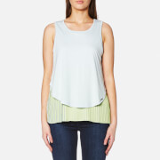 BOSS Orange Women's Talayer Layered Top - Light Pastel Blue