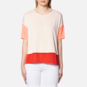BOSS Orange Women's Tustripe T-Shirt - Light Pastel Pink